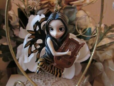 JASMINE BECKET GRIFFITH Strangeling LYRE FAIRY FIGURINE ORNAMENT NEW IN BOX