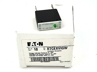 Eaton XTCEXVIGW Voltage Indicator, 12-48V, Qty 10