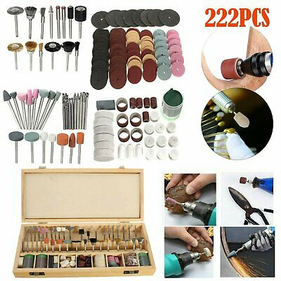 222PCS 1/8 Inch Shank Rotary Tool Accessories Bits Set for Dremel with Wood