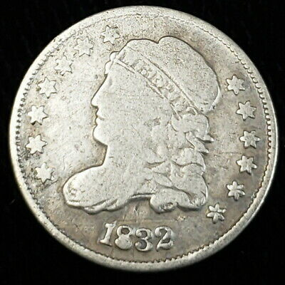 1832 US Liberty Capped Bust Silver Half Dime .05 Cents Early Date Coin 2LCB3215
