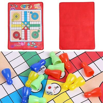 Children Kid Snake and Ladder Dice Foldable Flying Chess Ludo Traditional Games