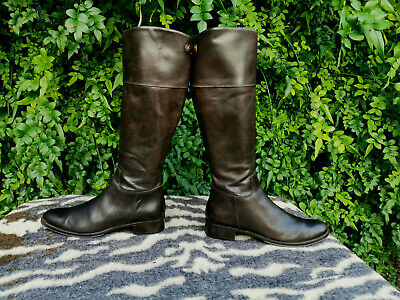 Tremp Brown Leather knee high boots made in Italy UK size 6 EU 39