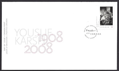 Canada  # 2270      YOUSUF KARSH    Brand New 2008 Unaddressed Cover