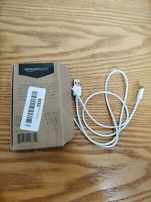 AmazonBasics USB Type-C to USB-A 2.0 Male Charger Cable - 3 Feet - White