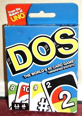 **Brand New** Mattel Games UNO DOS Card Game 2018