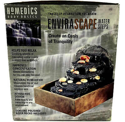 HoMedics Body Basics Envirascape Water Steps WFSTEP Tabletop Relaxation Fountain