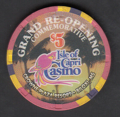 "$5 Isle of Capri Biloxi ""Grand Opening"" Limited Edition Chip"