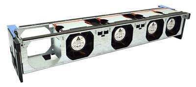 LOT OF 4 xDell Poweredge R710 Server Fans 090xrn 90xrn & Fan Assembly Cage Gy080