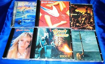 GREAT WHITE-6 CD Set-Sail Away/Twice Shy/Once Bitten/Hooked/Stick It/Can`t Get T