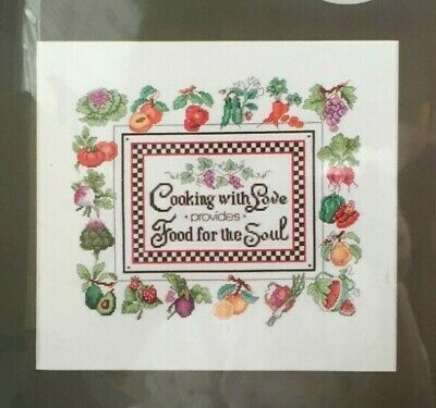 "2015 NIP Counted Cross Stitch Embroidery Kit ""Cooking With Love"" 13x11 2433F"