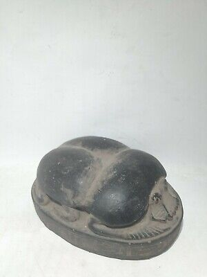RARE ANCIENT EGYPTIAN ANTIQUE Scarab Hieroglyphs Beetle Carved Stone Bc