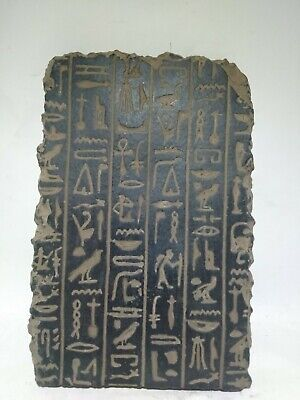 RARE ANTIQUE ANCIENT EGYPTIAN Stela Book of Dead Holly Book Hiroglyph 1640 Bc