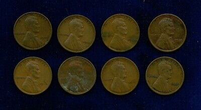 U.s. Lincoln Cents 1 Penny Coins: 1913, 1914, 1915, 1916, 1917, 1918, 1919, 1920