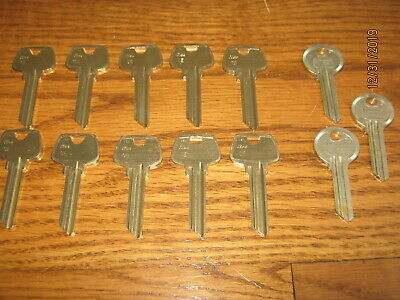 13 New Old Stock Key Blanks ILCO CE and GE 3