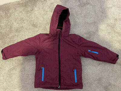 Girls Pink Purple Winter Ski Coat/Jacket Pre Owned Good Condition Age 5