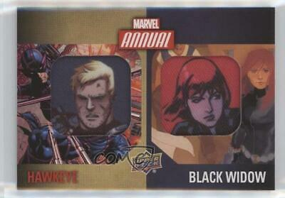 2016 Upper Deck Marvel Annual Character SP Hawkeye Black Widow Dual Patch 4et