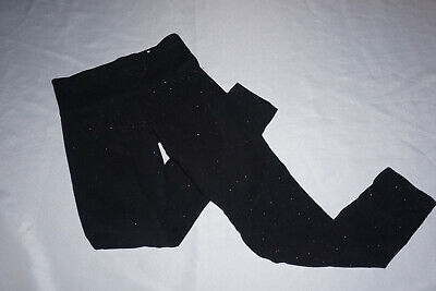 Girls Preowned Justice Leggings - Black w/ Sparkles - Size 8