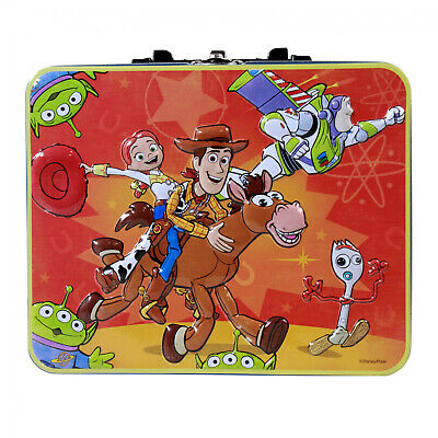 Disney Toy Story 4 Woody Buzz Jessie Forky and Little Green Men Puzzle Lunch Box