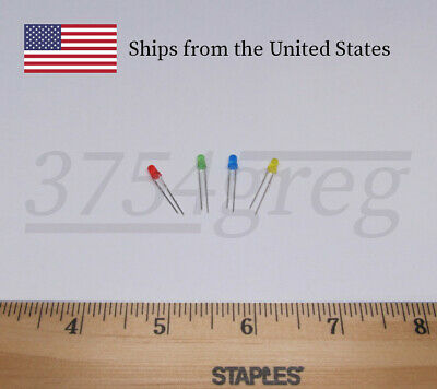 3mm Small LED Red, Green, Blue, Yellow, or White 20 Pack