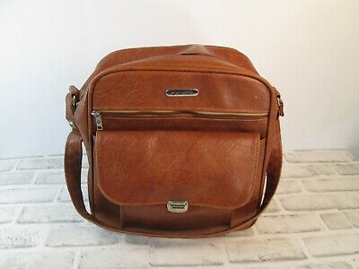 Vintage Samsonite Sonora II Shoulder Bag Brown Vinyl Travel Luggage Carry On
