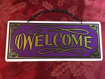 """Ladybug Welcome Sign 12/"""" Round Metal Sign Novelty Decorative Home Wall Decor"""