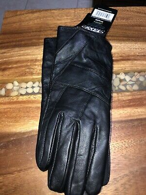 NEW WT 3M Thinsulate Insulation Ladies/ Women Large Black Dress Leather Gloves