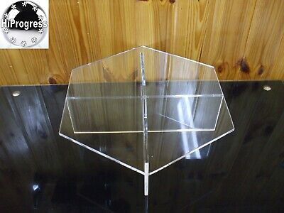 Clear Acrylic Hexagon Large Riser Tray Stand Display Holder for Wedding Cake