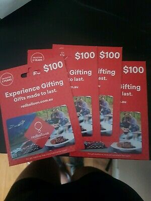 Red Balloon Vouchers total value $400