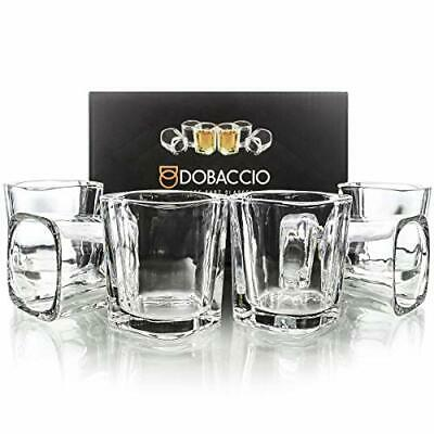 Square Shot Glasses for Whiskey, Brandy, Tequila. Shooting Drinking Glass, 2