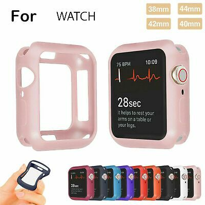 For Apple Watch Series 4321 38/40/42/44mm Protective Flexible Soft Silicone Case