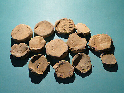 Interesting Job Lot of Lead Seals / Tokens, Lots of Detail, all require Research