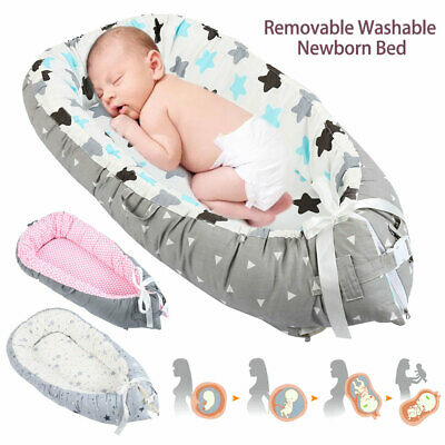 Baby Pod Nest Newborn Reversible Bed Mat Sleep Toddler Cushion Washable HOT