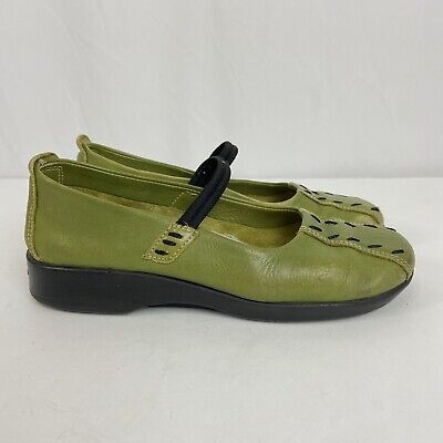 Arcopedico Shawna Green Leather Mary Janes Comfort Shoes Women EU 36