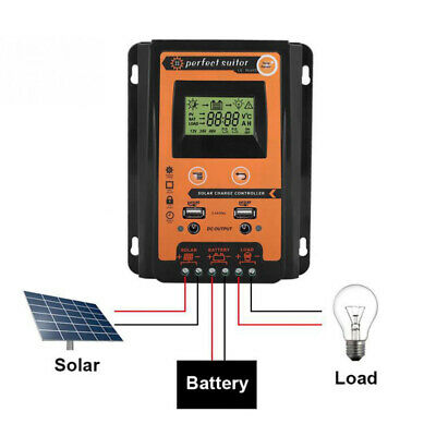 30A LCD MPPT Solar Panel Regulator Charge Controller 12 /24V Auto Focus Tracking