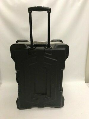 Plastic Shipping Case with Pull Handle & Foam Lined Interior