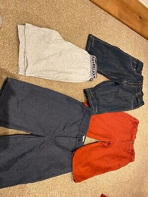 4 Pairs Of Boys Shorts Age 11-12 Jeans, Tailored Smart And PJ