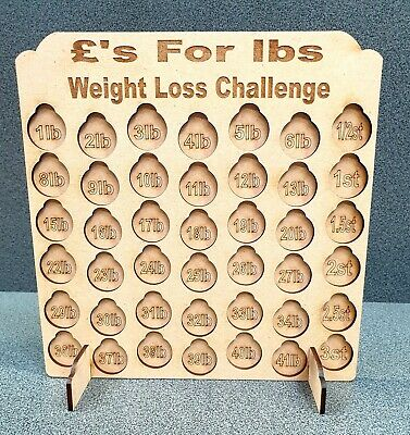 Personalised 3st Weight Loss Coin Board Chart Weight Watchers, Slimming World