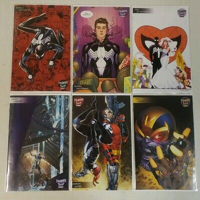 Lot of 6 Symbiote Spider-Man Alien Reality #1 Young Guns Symbiote Swap Covers NM