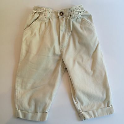 Mothercare 6-12 mo Boys Trousers, Beige, Chino, Cargo, cotton,