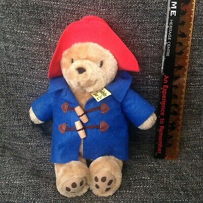 Paddington Bear Classic Soft Toy / Cuddly - With Label - Approximately 9 Inches