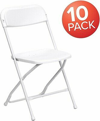 (10 Pack) Commercial Plastic Folding Stackable Chairs Seats -Event Wedding Party