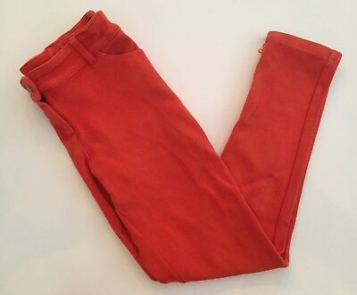 Girls Mini Boden Size 10 Orange Soft Brushed Cotton Jeans Pant Jeggings School