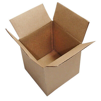 """4"""" Square Cube Cardboard Packing Mailing Moving Shipping Boxes Corrugated Box"""