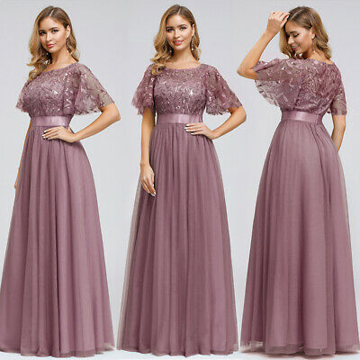 Women Plus Size Wedding Party Dress Long Formal Mother of Bride Ball Gowns 07713