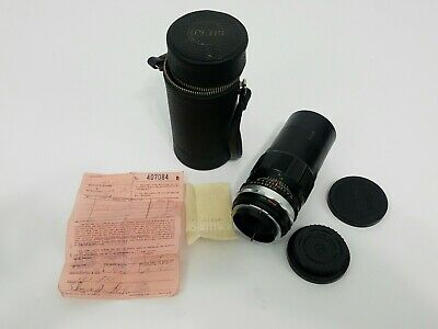 Petri Camera C.C. Lens 1:3.5 F=135 mm Japan With Case