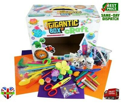 Grafix BIG Box Of Craft Childrens Kids GIANT Art Set 100 Crafting pieces 2848