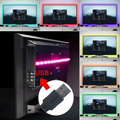 USB RGB Color Light Remote Control 1M-4M 5050 LED Strip Lights TV Backlight