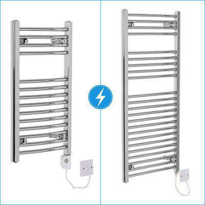 Electric Curved Straight Bathroom Heated Towel Rail Radiator Thermostatic Manual