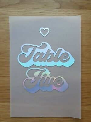 13 Holographic table numbers for wedding or party