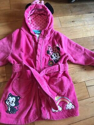 Girls Minnie Mouse Dressing Gown Disney Store Age 3 . Immaculate FREE POST
